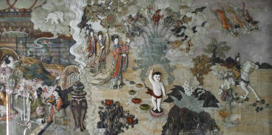 Religie awagenvoorde beide afbeeldingen zijn afkomstig uit xian china waar het hele leven van boeddha op een schitterende wijze is uitgebeeld in jade fandeluxe Images